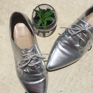 ASOS silver Lace up Shoes